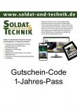Gutschein-Code für einen 1-Jahres-Pass und somit Zugang zu allen Inhalten auf www.soldat-und-technik.de